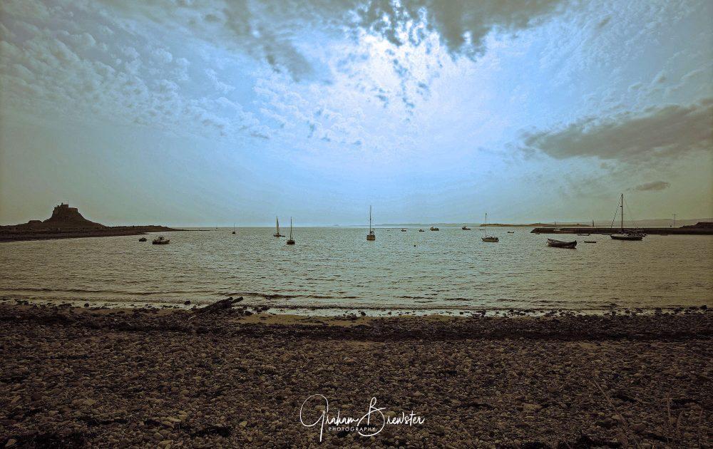 Graham Brewster Photography - Lindisfarne Photography Prints - Castle at dusk - Lindisfarne