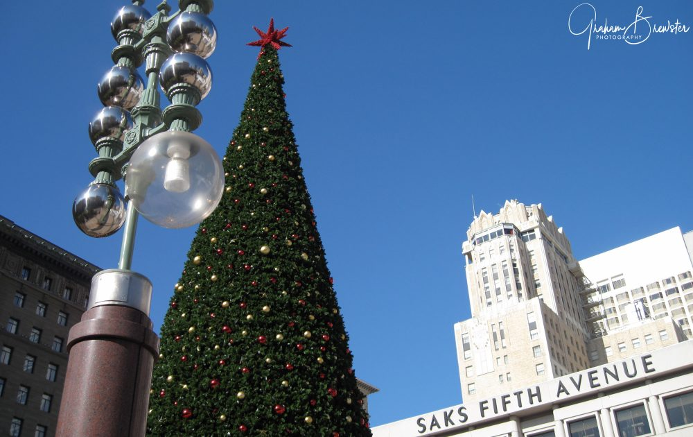 Graham Brewster Photography - San Francisco Photography Prints - Merry Christmas Union Square